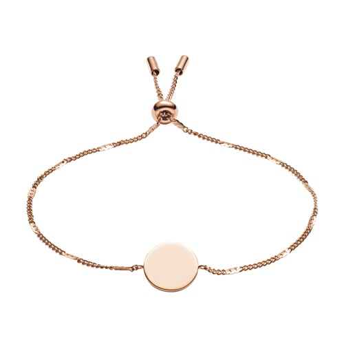 Fossil Engravable Disc Rose Gold-Tone Bracelet JF02898791