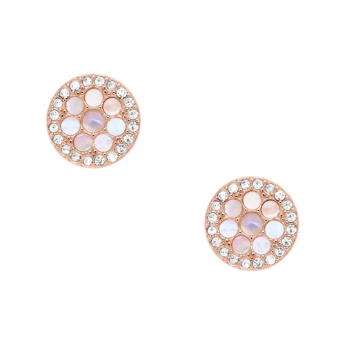 Fossil Disc Mother-of-Pearl Studs JF02906791