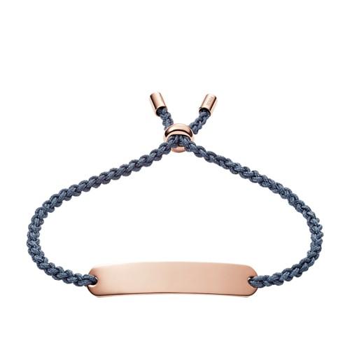 Fossil Plaque Navy Nylon Bracelet JF02913791