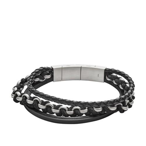 fossil Multi-Strand Leather Bracelet JF02937040