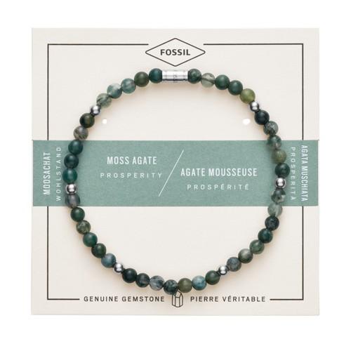 fossil Moss Agate Bracelet JF02940040