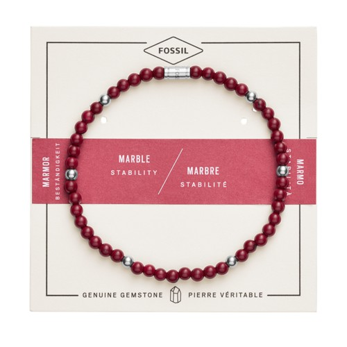 fossil Red Marble Bracelet JF02941040