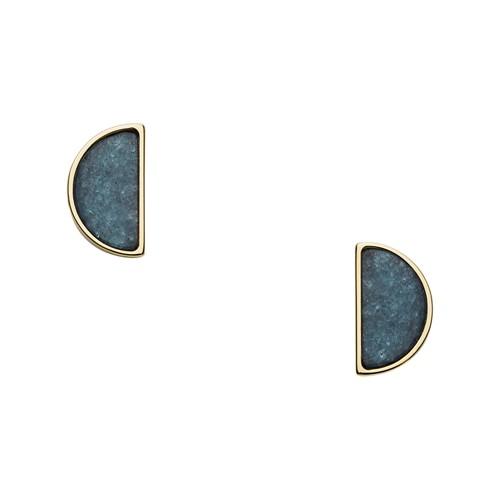fossil Half-Moon Jade Studs JF02943710