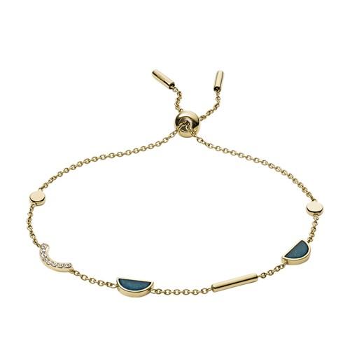 fossil Jade Gold-Tone Bracelet JF02945710