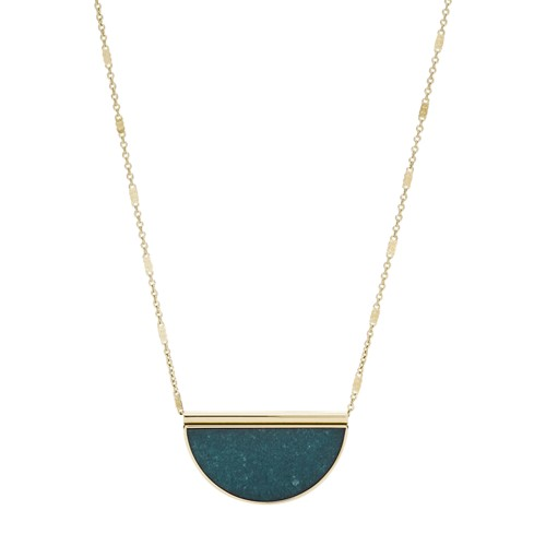 fossil Half-Moon Jade Necklace JF02946710