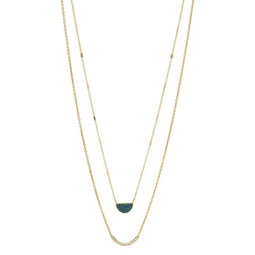 fossil Double Half-Moon Jade Necklace JF02947710