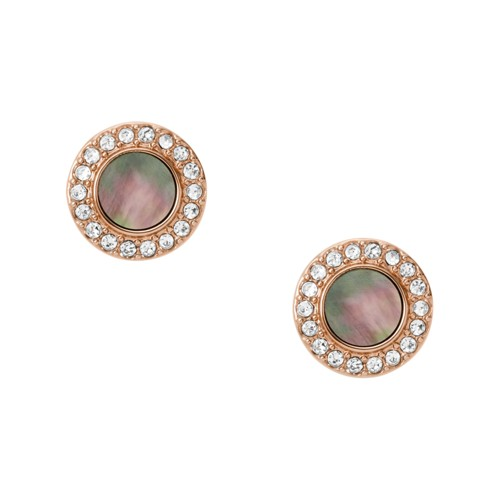 fossil Gray Mother-Of-Pearl Glitz Studs JF02949791