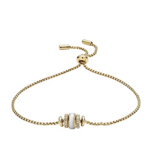 fossil Rivershell Gold-Tone Steel Bracelet JF02956710