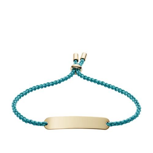 fossil Engravable Plaque Turquoise Nylon Bracelet JF02964710
