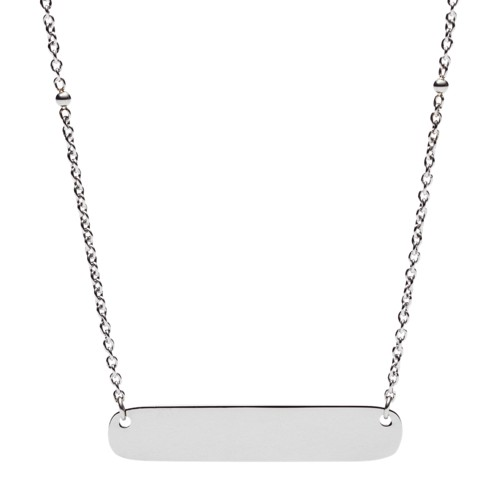 Engravable Plaque Steel Necklace JF02967040