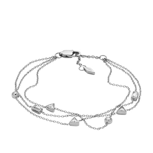 fossil Multi-Strand Beaded Steel Bracelet JF02976040