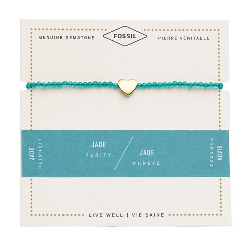 fossil Jade Heart Bracelet JF02978710