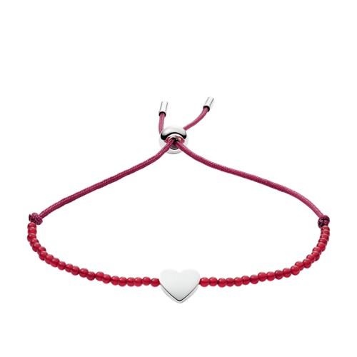fossil Carnelian Heart Bracelet JF02981040