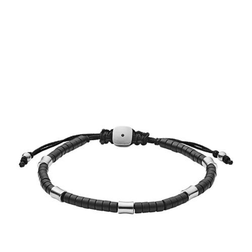 fossil Black Agate Corded Bracelet JF03006040