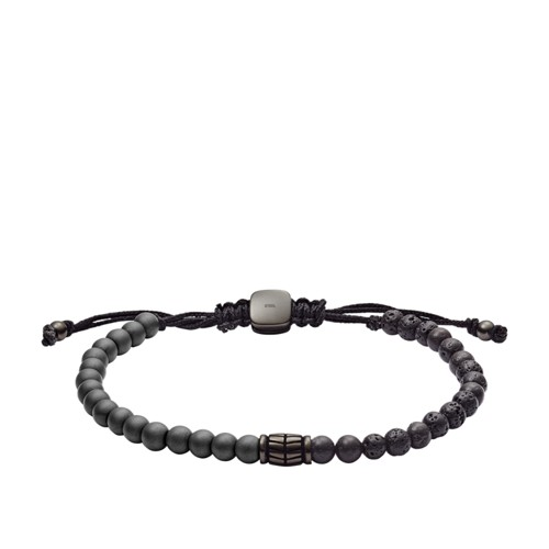 Hematite and Black Lava Stone Bracelet JF03008793