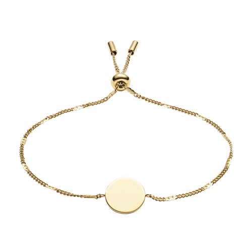 Engravable Disc Gold-Tone Stainless Steel Bracelet JF03020710
