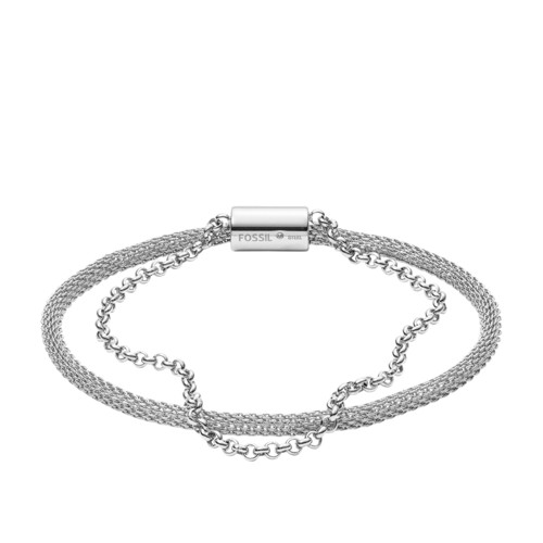 Double-Strand Mesh and Stainless Steel Bracelet JF03023040