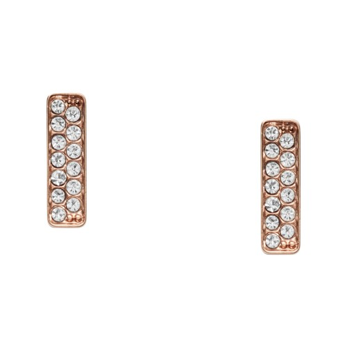 fossil Rose Gold-Tone Stainless Steel Glitz Studs JF03028791