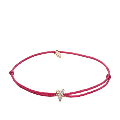 fossil Heart Pink Nylon Bracelet JF03052791