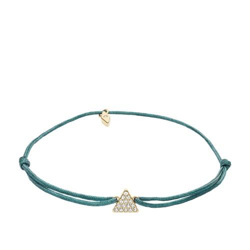 fossil Triangle Green Nylon Bracelet JF03054710
