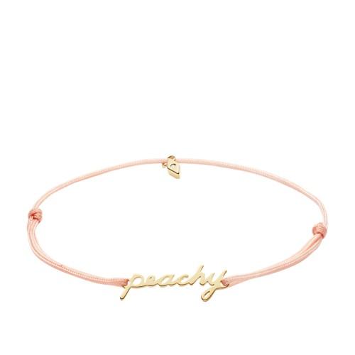 fossil Peachy Pink Nylon Bracelet JF03056710