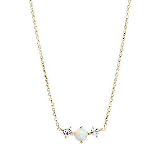 Iridescent Gold-Tone Stainless Steel Necklace JF03070710
