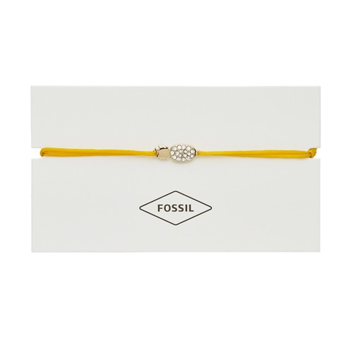 fossil Pineapple Yellow Nylon Bracelet JF03093710