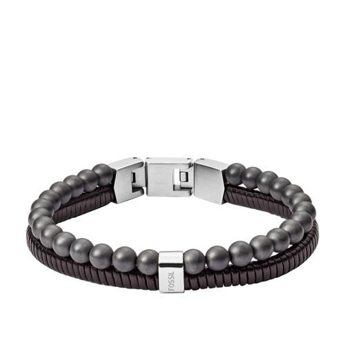 fossil Duo Gray Hematite Bracelet JF03101040