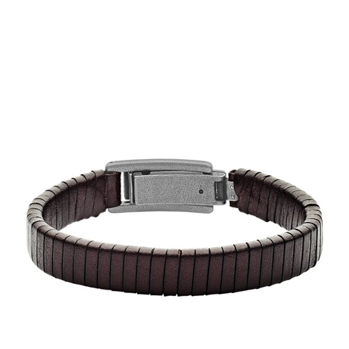 fossil Wrapped Brown Leather Bracelet JF03105793