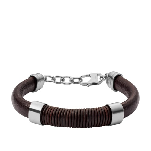fossil Wrapped Brown Leather Bracelet JF03106040