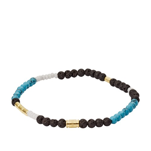fossil Lava Stone  Dyed Jade and Howlite Bracelet JF03108710