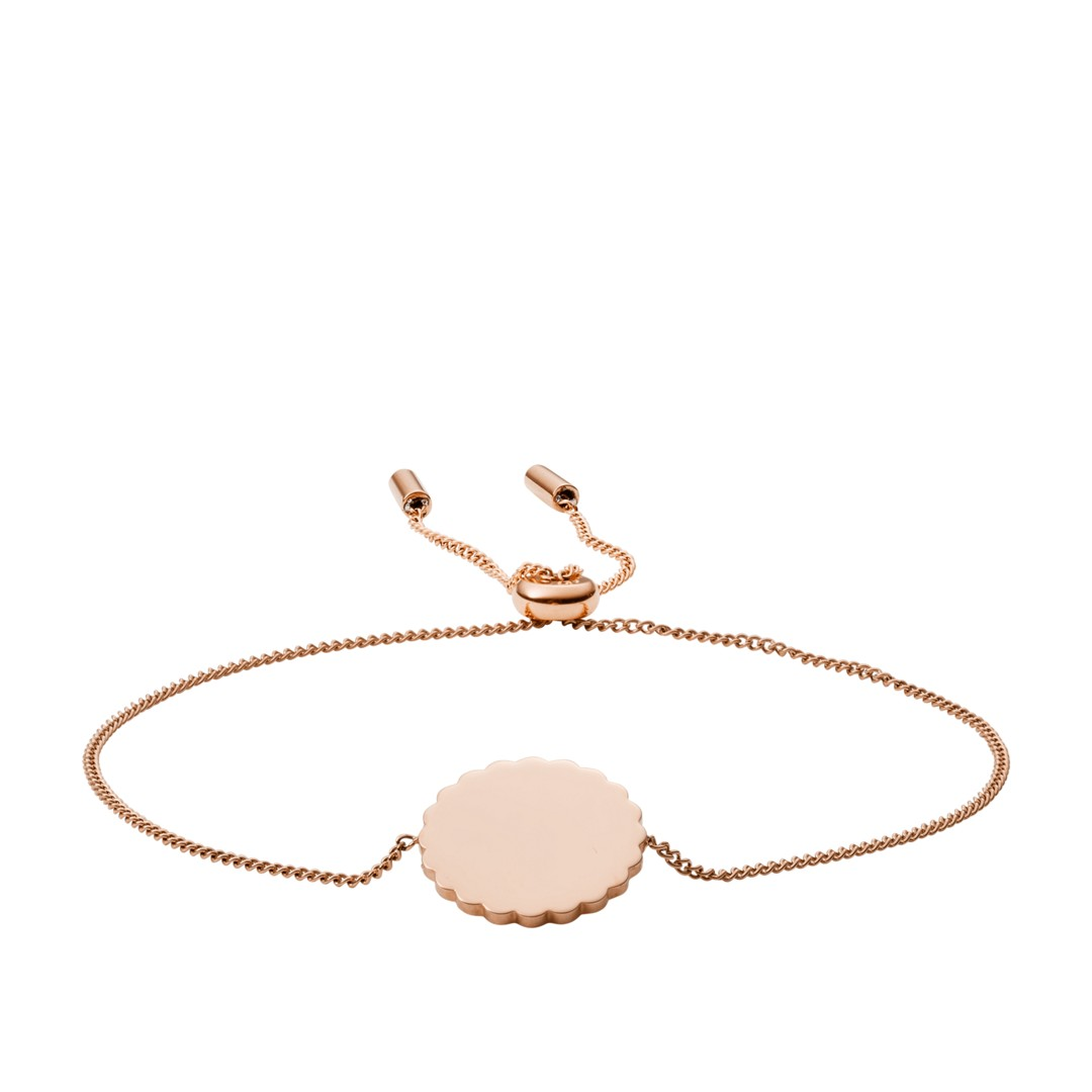 Fossil Scalloped Disc Rose Gold-Tone Stainless Steel Bracelet Jf03151791 jewelry - JF03151791-WSI