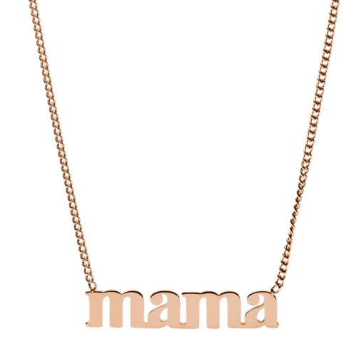 fossil Mama Rose Gold-Tone Stainless Steel Necklace JF03156791