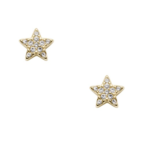 fossil Star Gold-Tone Stainless Steel Studs JF03158710