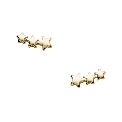 Shooting Star Gold-Tone Stainless Steel Ear Crawlers JF03159710
