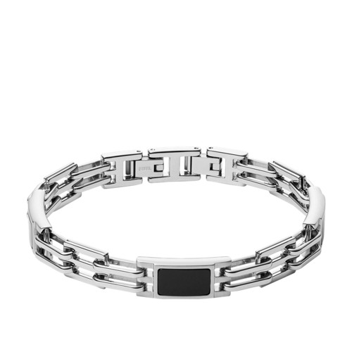 fossil Plaque Stainless Stainless Steel Bracelet JF03171040