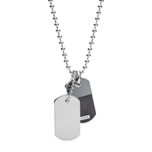 Duo Dog Tag Stainless Steel Necklace JF03179040