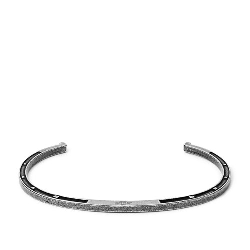 Fossil Antique-Inspired Stainless Steel Open Cuff  jewelry JF0318