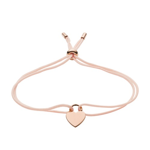 Heart Rose Gold-Tone Stainless Steel Bracelet JF03203791