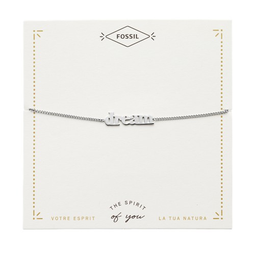 Silver-Tone Steel Dream Bracelet JF03225040