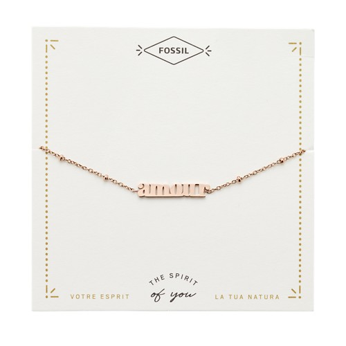Rose Gold-Tone Steel Amour Bracelet JF03226791