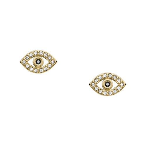 Evil Eye Gold-Tone Stainless Steel Earrings JF03232710