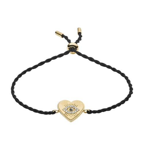 Fossil Evil Eye Black Nylon Bracelet  jewelry JF03235710