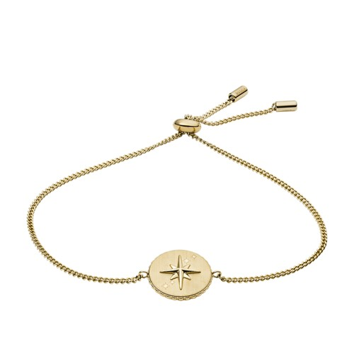 North Star Pendant Gold-Tone Stainless Steel Bracelet JF03238710
