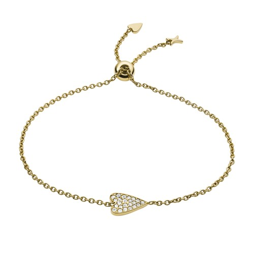 Heart Gold-Tone Stainless Steel Bracelet JF03260710