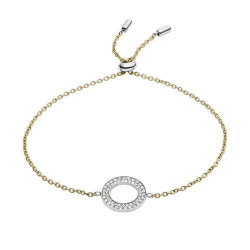 fossil Two-Tone Steel and Glitz Bracelet JF03282998
