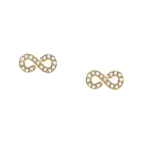 Fossil Infinity Gold-Tone Steel Studs  jewelry JF03294710