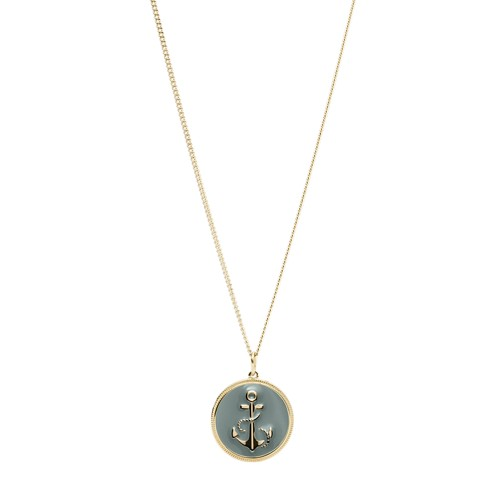 Anchor Gold-Tone Steel Pendant JF03296710