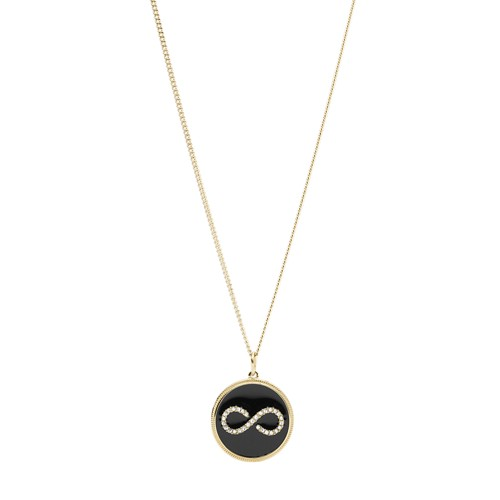 Fossil Infinity Gold-Tone Steel Pendant  jewelry JF03298710
