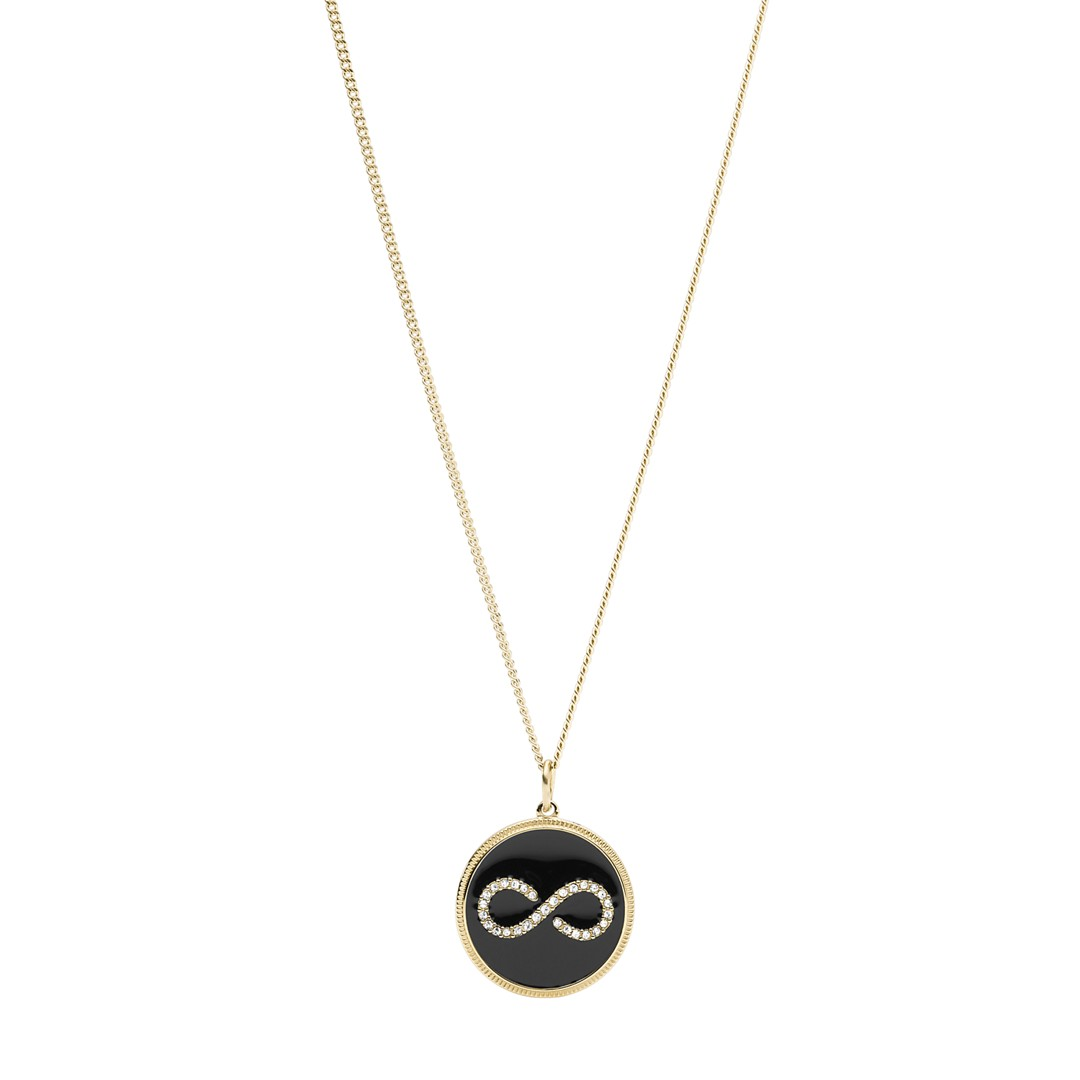 Fossil Infinity Gold-Tone Steel Pendant Jf03298710 jewelry - JF03298710-WSI